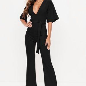 Black kimono sleeve jumpsuit !